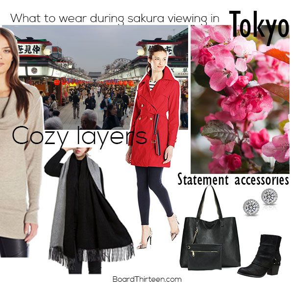 what to wear in Tokyo during Sakura blossom season