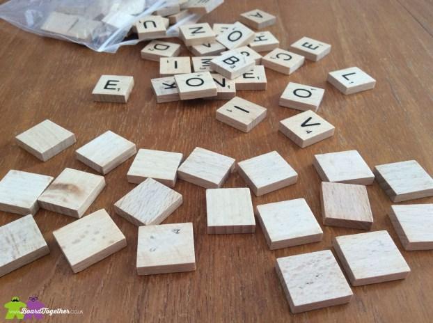 Sanding Scrabble Tiles