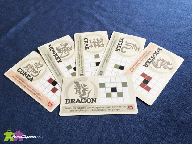 Onitama Boardgame Movement Cards