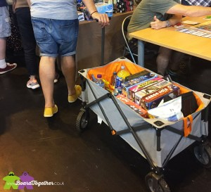 How to carry boardgames at a convention