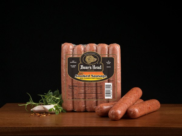 Hot Smoked Sausage Skinless Boar39s Head
