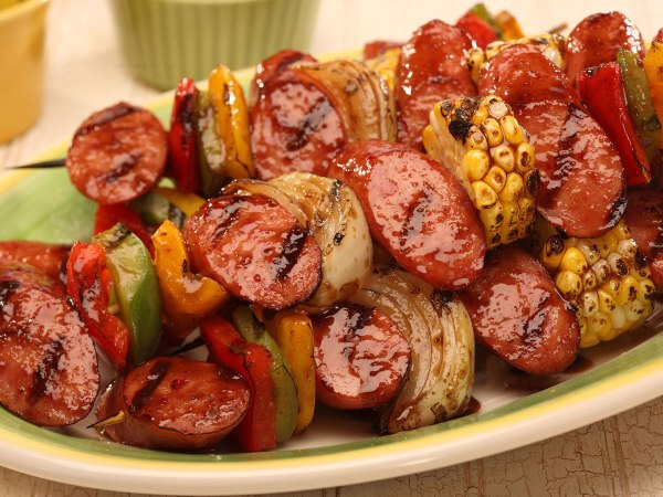 Hot Smoked Sausage Kabobs Recipe Boar39s Head