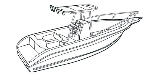 Carver Boat Covers for V-Hull Center Console Fishing Boat