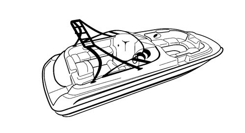 Carver Boat Covers for Deck Boat with Ski Tower