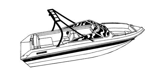 Carver Boat Covers for V-Hull Runabout Boat with Ski Tower