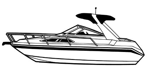 Carver Boat Covers for High Profile Cabin Cruiser with
