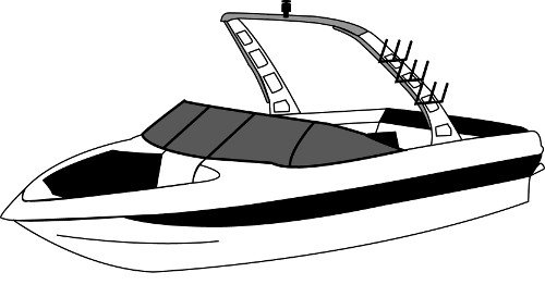 Boat Covers for Rear Mounted Facing Tower Tournament Skis