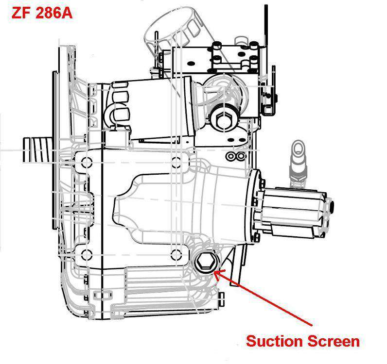 Transmissions:ZF Marine Filters on ZF 286a