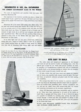 Advert for Shearwater III