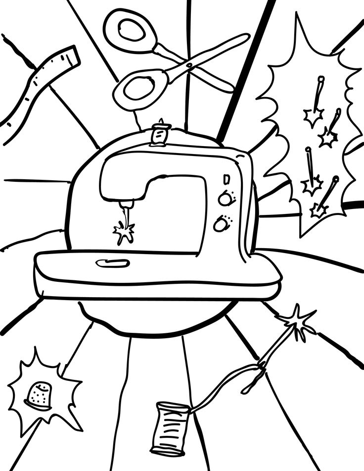 Sewing Machine Pages For Adults Coloring Pages