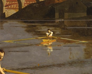 Thomas Eakins, Champion Single Scull (Detail), 1871. The Metropolitan Museum of Art. Image source: Art Resource, NY.
