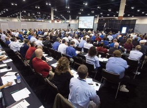 A packed educational session at MDCE