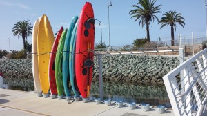 Located on San Diego Bay, Pier 32 Marina has incorporated stylish kayak stands to appeal to a broader customer base.