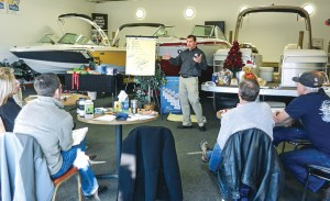 Colorado Boat Center posts notes on what makes great customer experiences, keeps training files for every employee and has brought industry trainers like Sam Dantzler in to motivate and educate the team.