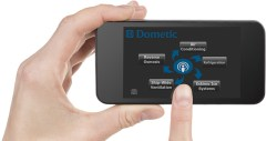 Smart Touch Integrated Intelligence Control (STIIC) home screen on a smart phone display with a finger pointing