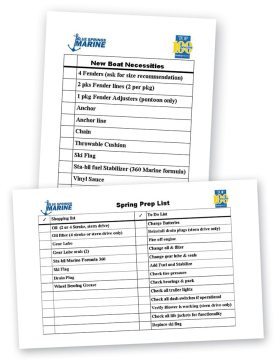 Checklists help do-it-yourself customers stock up on all the items they will need to launch this spring.