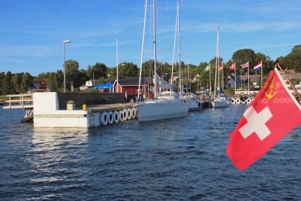 Hanö island sweden water sky blue marina