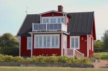 Hanö island sweden house sky blue