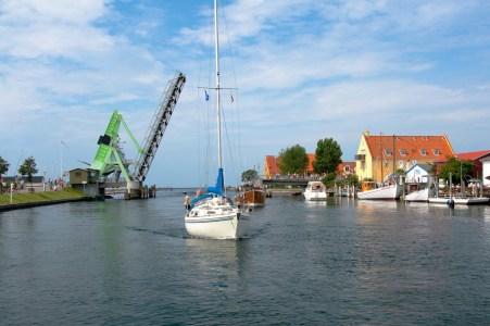 karrebæksminde / enø Denmark canal bridge boat