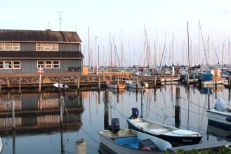 sønderborg denmark marina boats water evening
