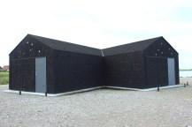 aeroeskoebing Denmark hut window black shed sky