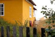 Samsø ballen denmark house sky tree orange