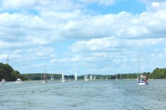 schlei water sky blue sail boats germany