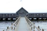 sønderborg baths building grey pier water sky