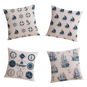 The Boat Life Linen Cushion Covers