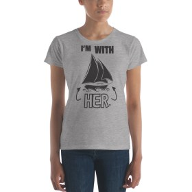 I'm With HER T-shirt (Cutter – black)