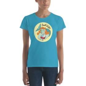 Happy Mermaid Sailor boatLUV T-shirt (Women's – many colors available)