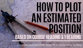 Read more about the article How To Plot An Estimated Position: Course Heading and One Bearing