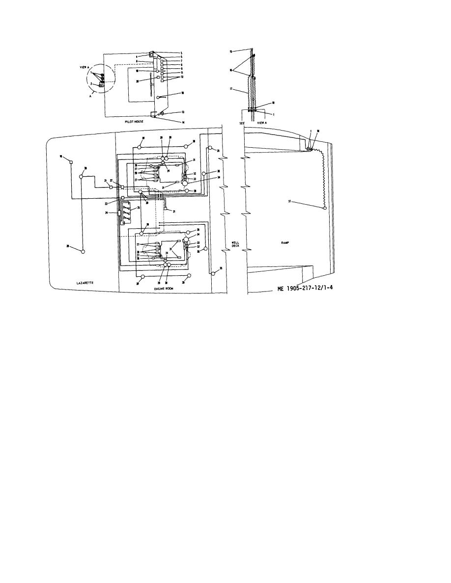 Figure 1-4. Plan view wiring diagram, hull numbers LCM