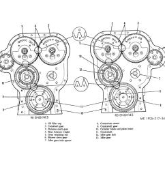 gear train and timing marks right hand rotation engines  [ 1188 x 918 Pixel ]