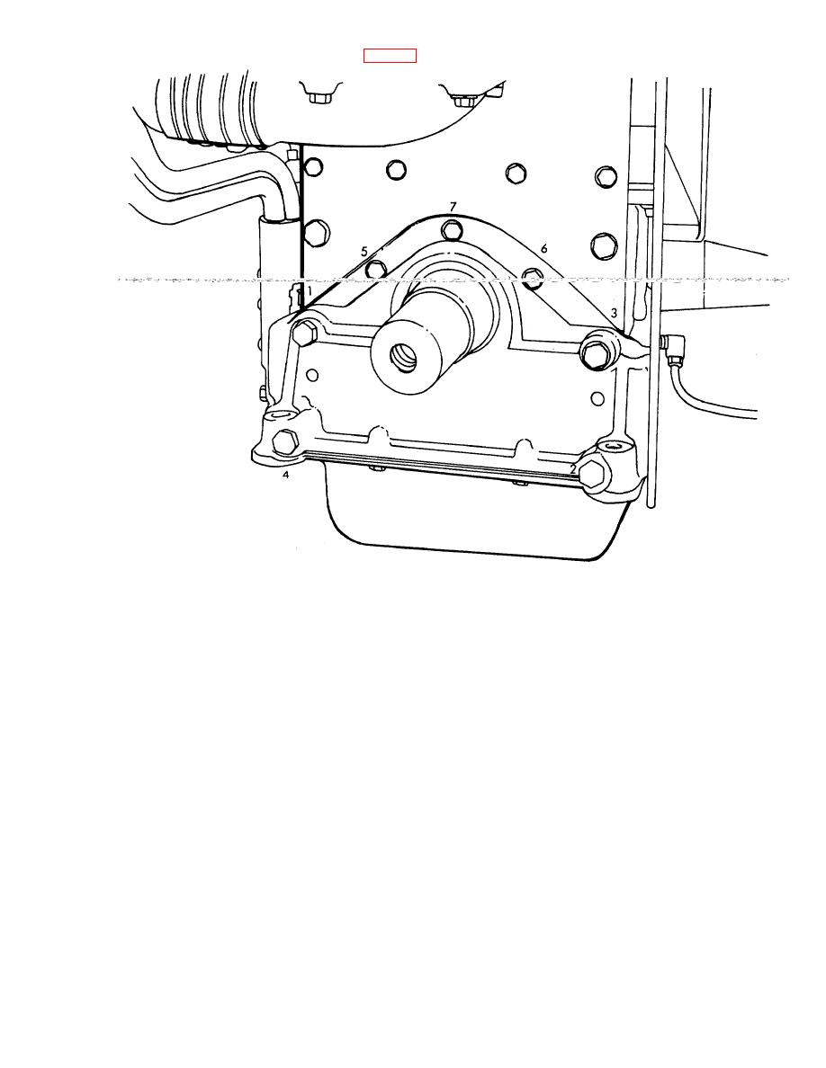 Figure 3-96. Crankshaft front cover bolt tightening sequence