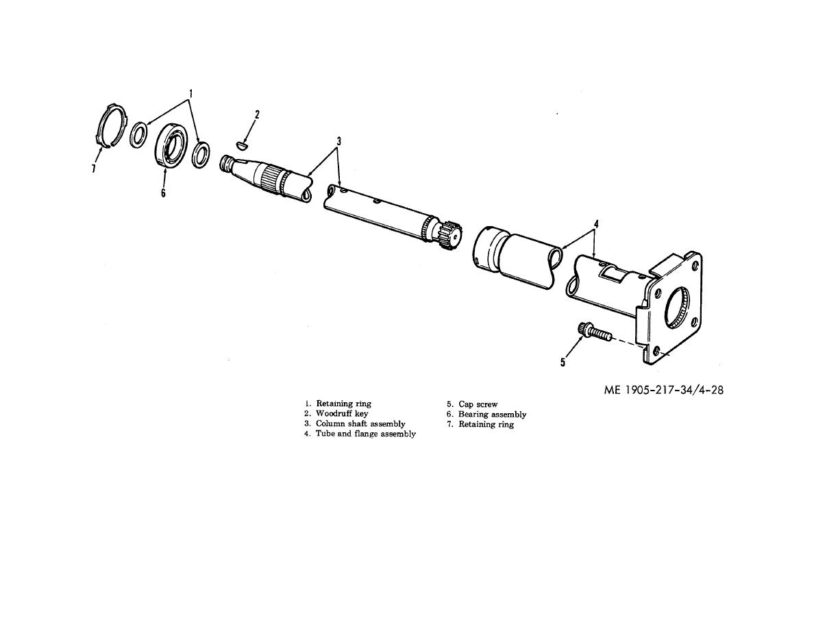 Figure 4-28. Helm unit column assembly, disassembly and