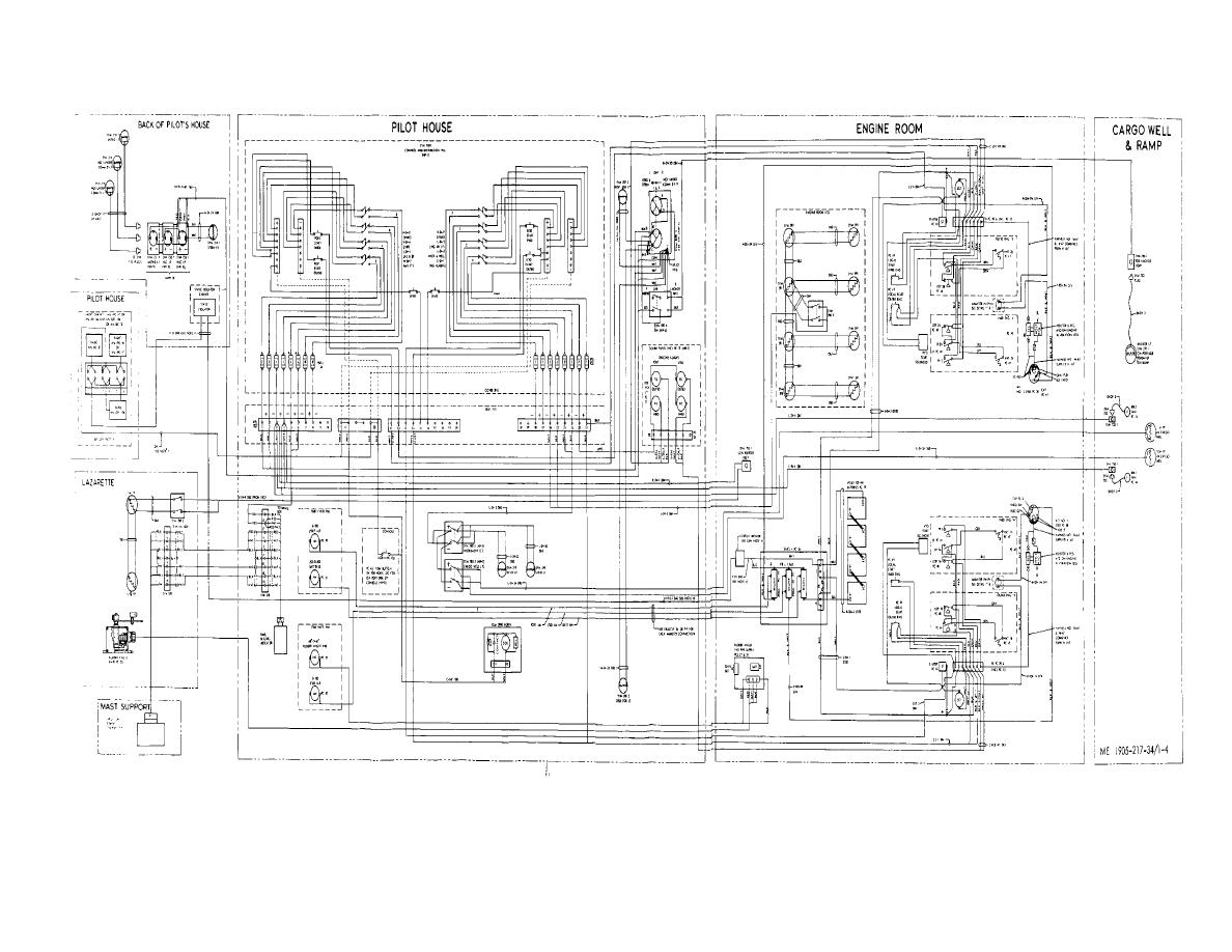 Figure 1-4. Wiring diagram-hull nos. 8540-8560 and 8580-8618.