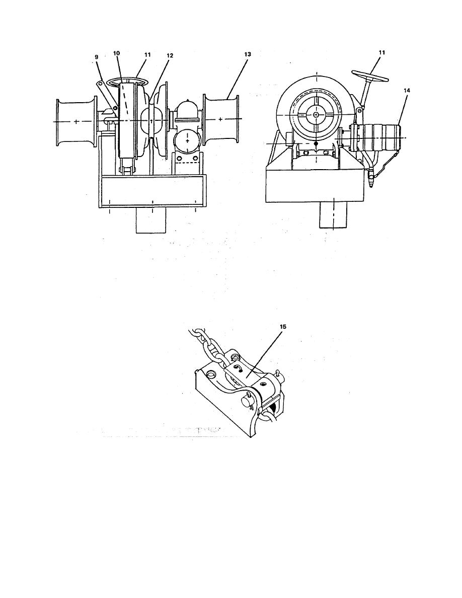 FIGURE 2-49. Bow Anchor Windlass (Sheer 3 of 3).