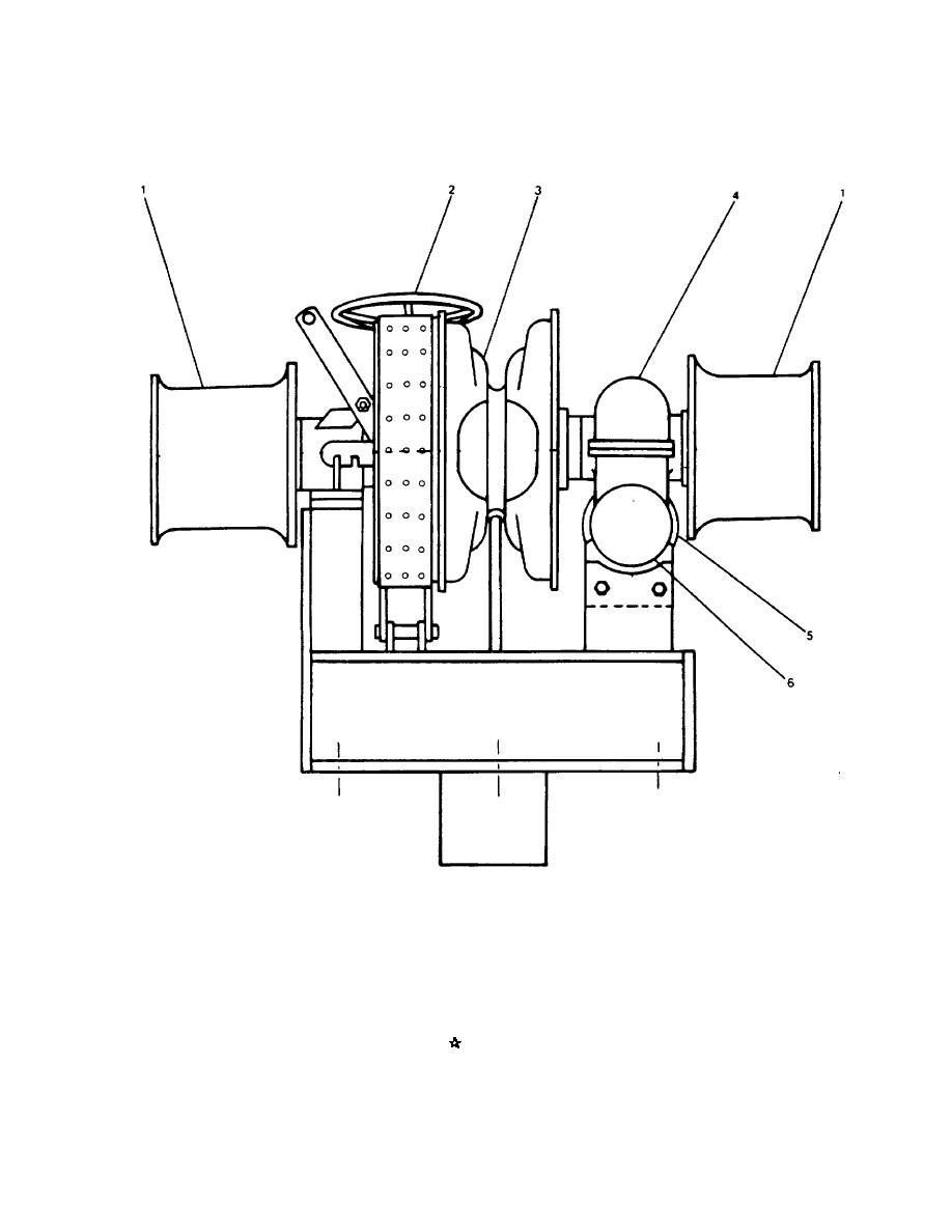 FIGURE 1-1. Bow Anchor Windlass Assembly.