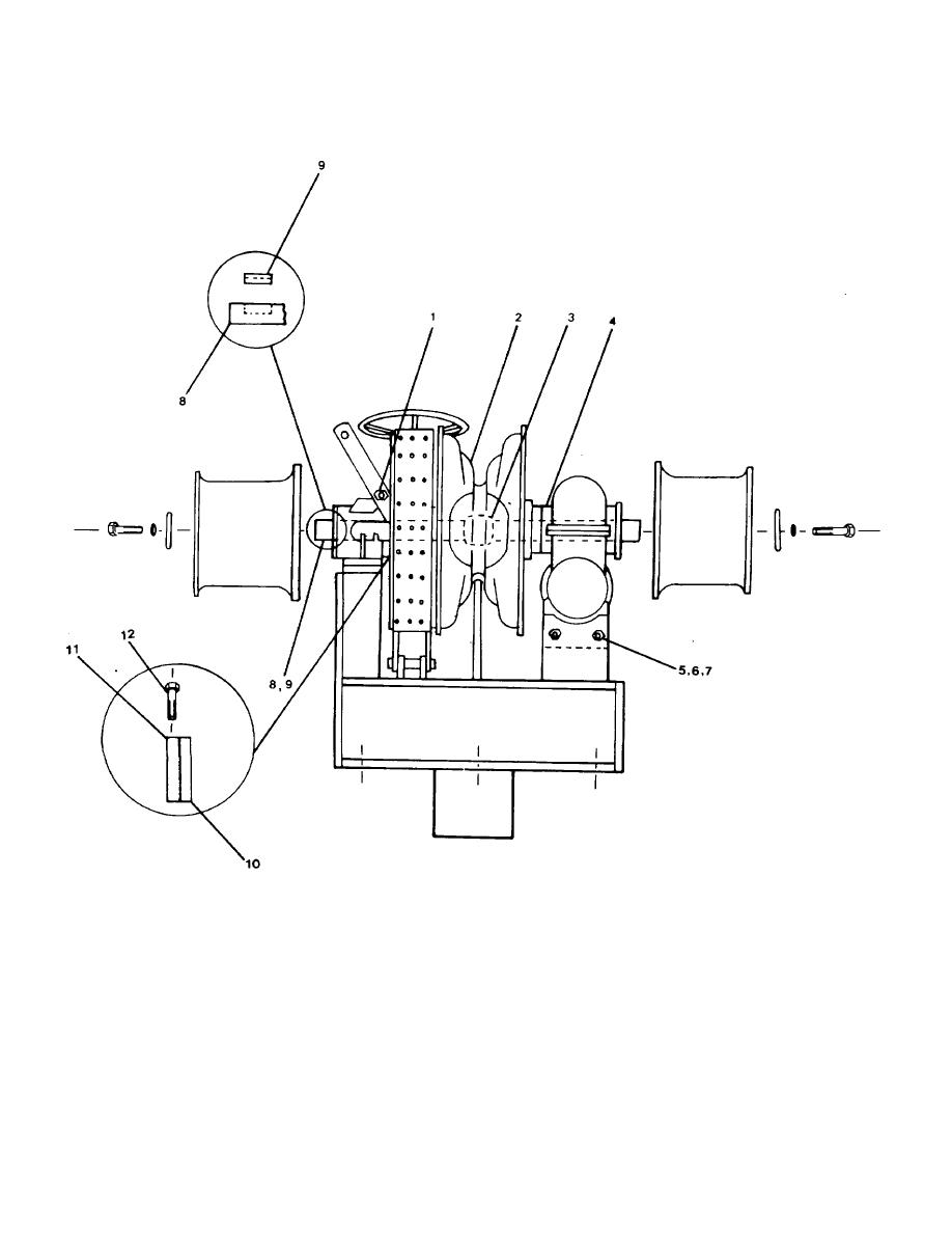 FIGURE 4-4. Bow Anchor Windlass Clutch and Drive Components.