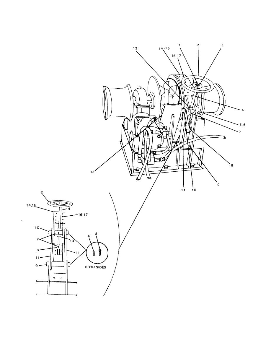 FIGURE 4-6. Bow Anchor Windlass Brake and Drum Components.