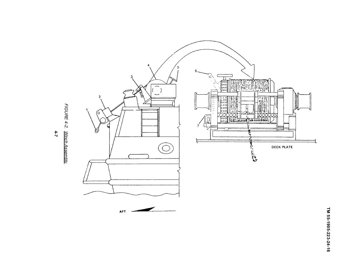 FIGURE 4-2. WINCH ASSEMBLY