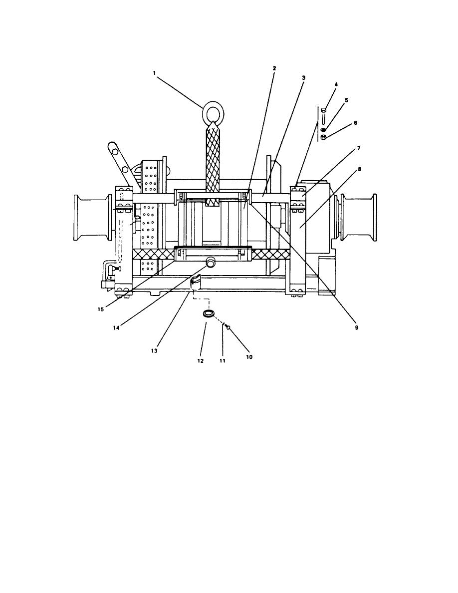 FIGURE 4-8. Stern Anchor Winch Levelwind Assembly.