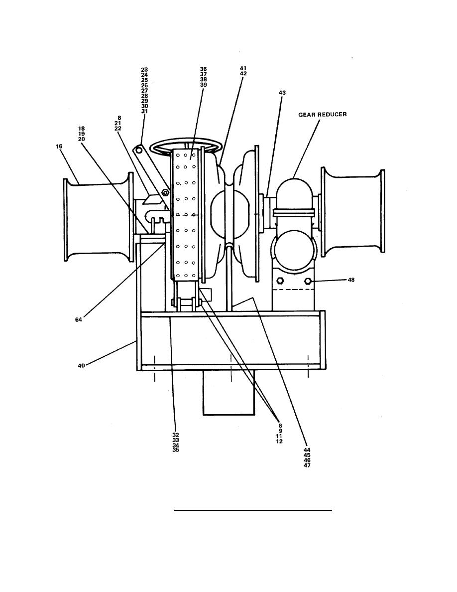 FIGURE 255. Bow Anchor Windlass Assembly (Sheet 2 of 2).