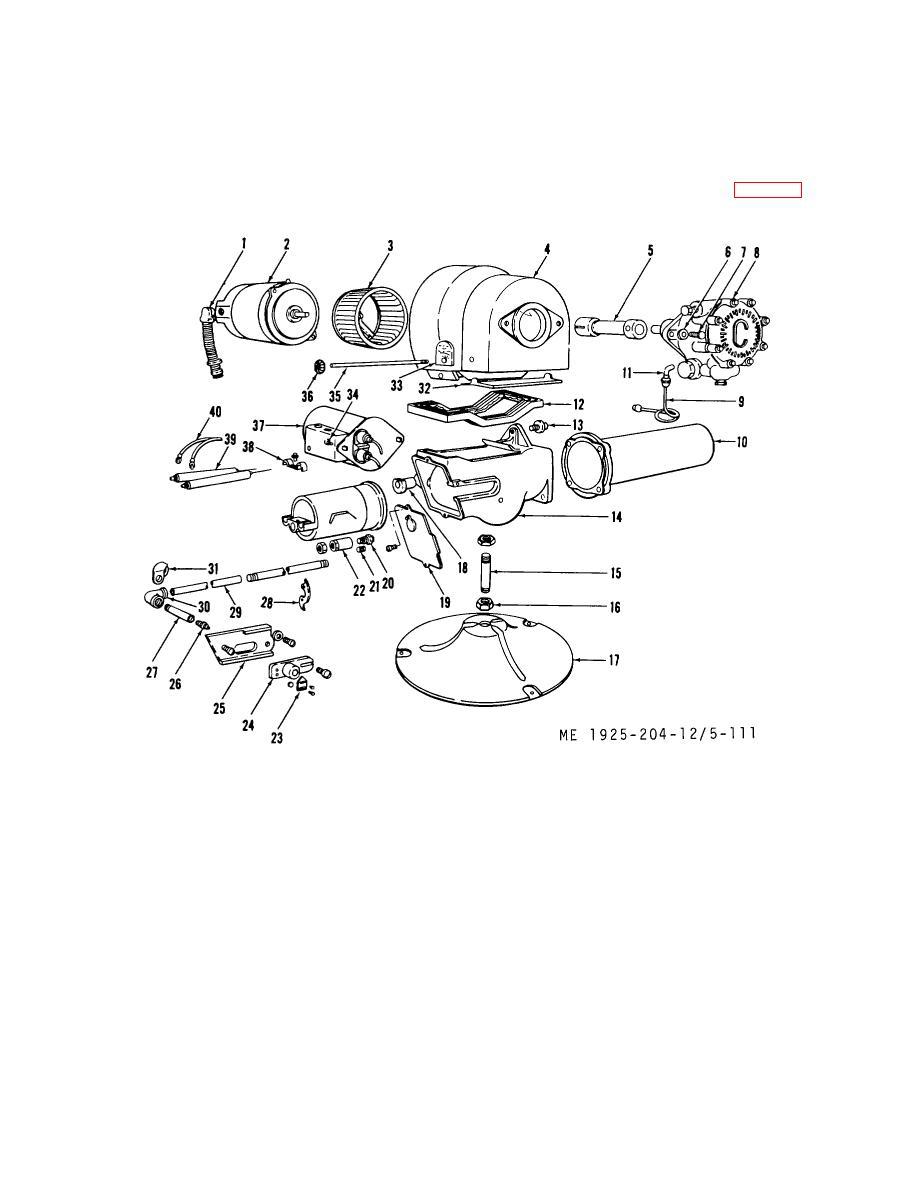 Figure 5-111. Oil burner assembly