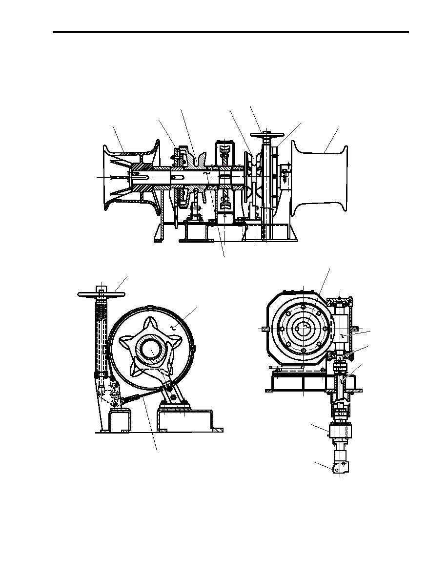 Figure 9. Anchor Windlass Mechanical Operation