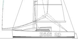 Didi 23. Radius chine plywood trailer-sailer
