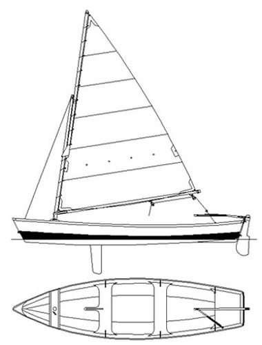 Otter 16. [OT16] An able open rowing skiff with an