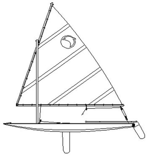 Moonfish 14. [MF14] A lateen rigged board boat