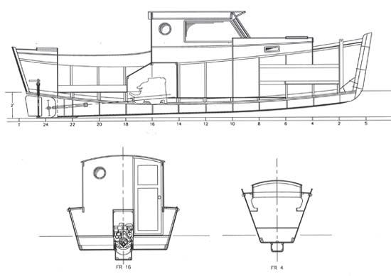 Redwing 26. Pilothouse power cruiser